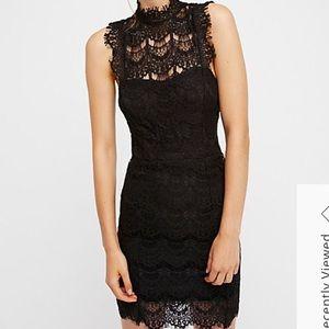 Free People Daydream Lace Mini Dress